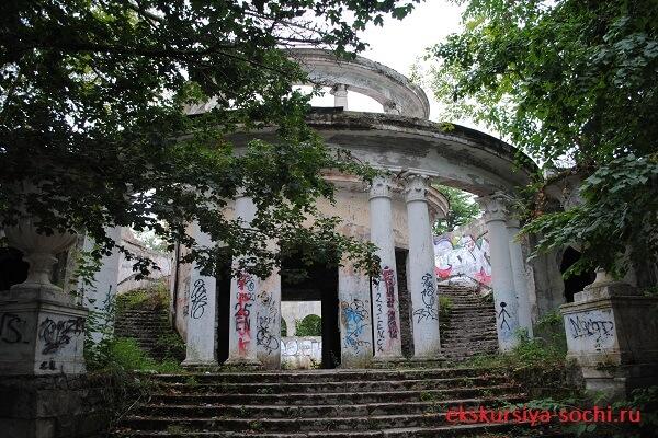 Руины ресторана ахун