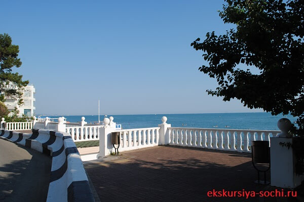 Вид на черноморское побережье