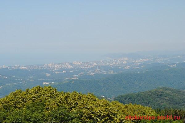Вид с башни на Сочи