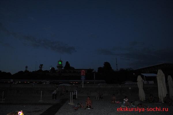 Вечерний маяк сочи