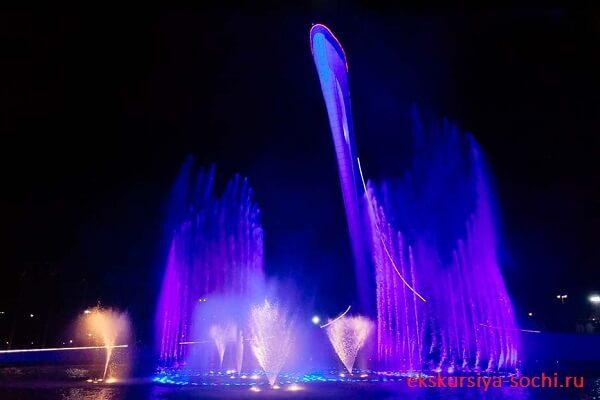 Музыкальное шоу фонтанов Сочи