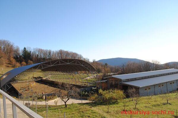 Вид сверху на ферму